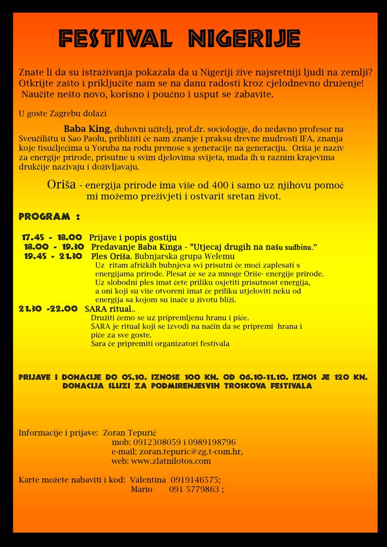 festival nigerije program